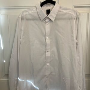 H&M Slim Fit Easy Iron White Button Up